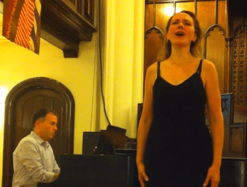 Silvie Jensen performs Schenk mir deinen goldenen Kamm, Schoenberg with Djordje Nesic on Piano